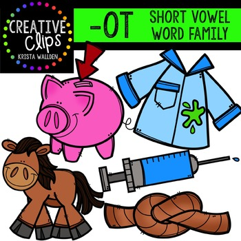 OT Short O Word Family {Creative Clips Digital Clipart.