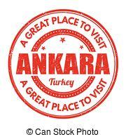 EPS Vector of Ankara stamp.