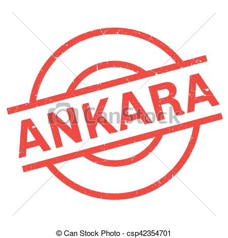 Vector Clipart of Ankara rubber stamp. Grunge design with dust.