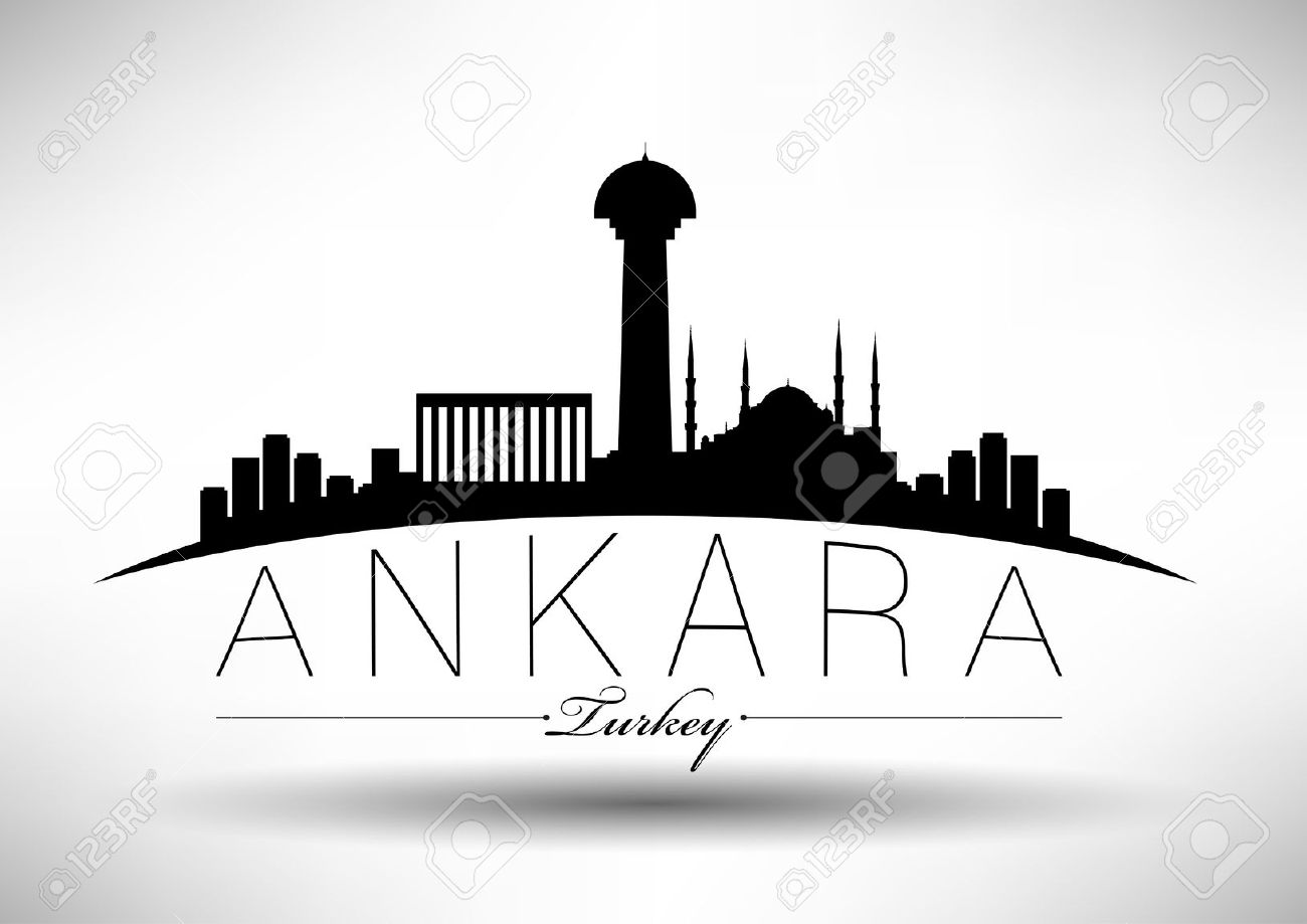 Ankara City Skyline Design Royalty Free Cliparts, Vectors, And.