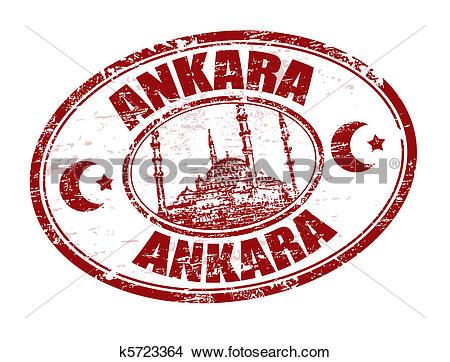 Clipart of Ankara stamp k5723364.