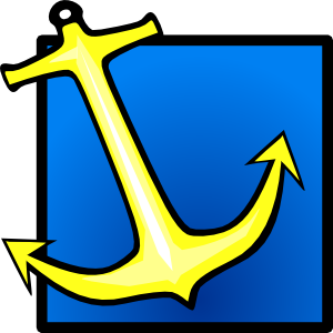 Yellow Anchor Blue Background Clip Art at Clker.com.
