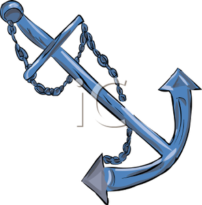 Anchor For A Boat Clipart Image.