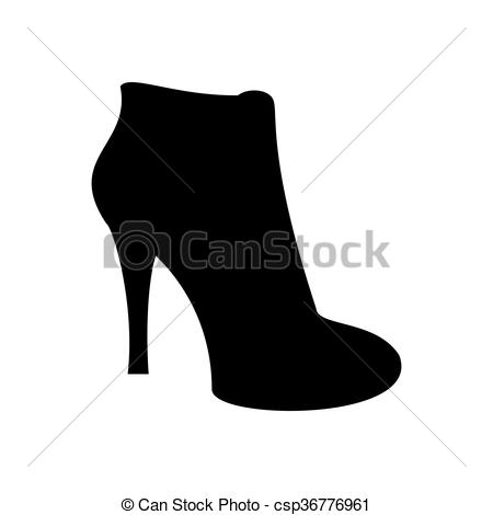 Clip Art Vector of Ankle boots shoes. Shoes illustration. Boots.