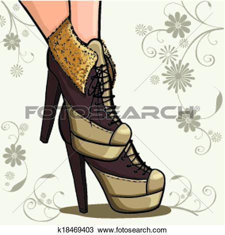 Clipart of Ankle boots k18469403.