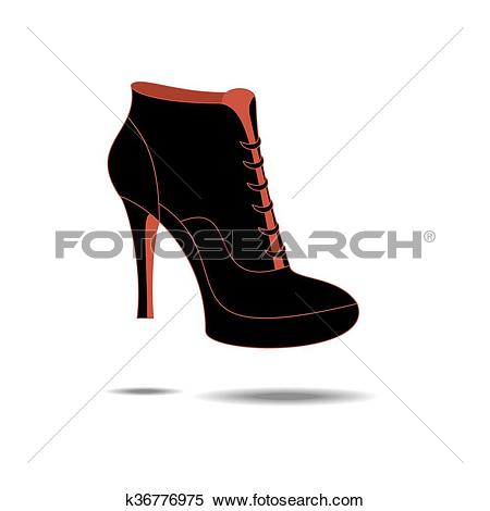Clipart of Ankle boots shoes k36776975.