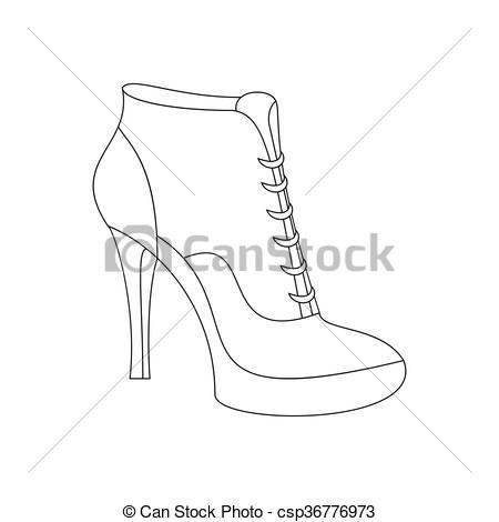 Vectors Illustration of Ankle boots shoes. Shoes illustration.