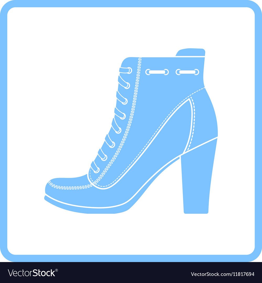 Ankle boot icon.
