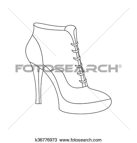 Clipart of Ankle boots shoes k36776973.
