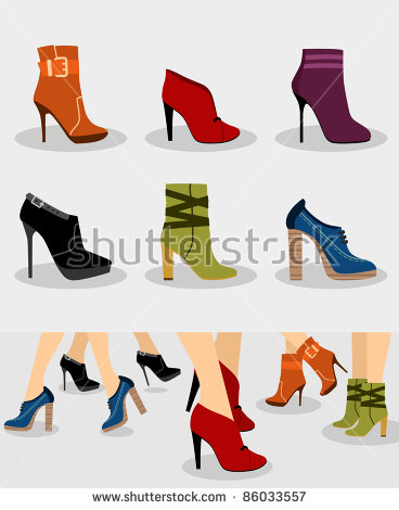 Royalty Free Stock Photos and Images: Set of women boots and.