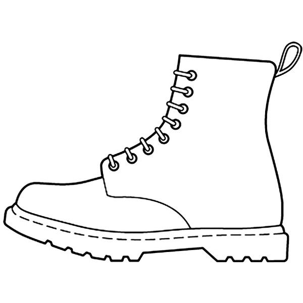 Wee\'s shoe outline found on Polyvore.