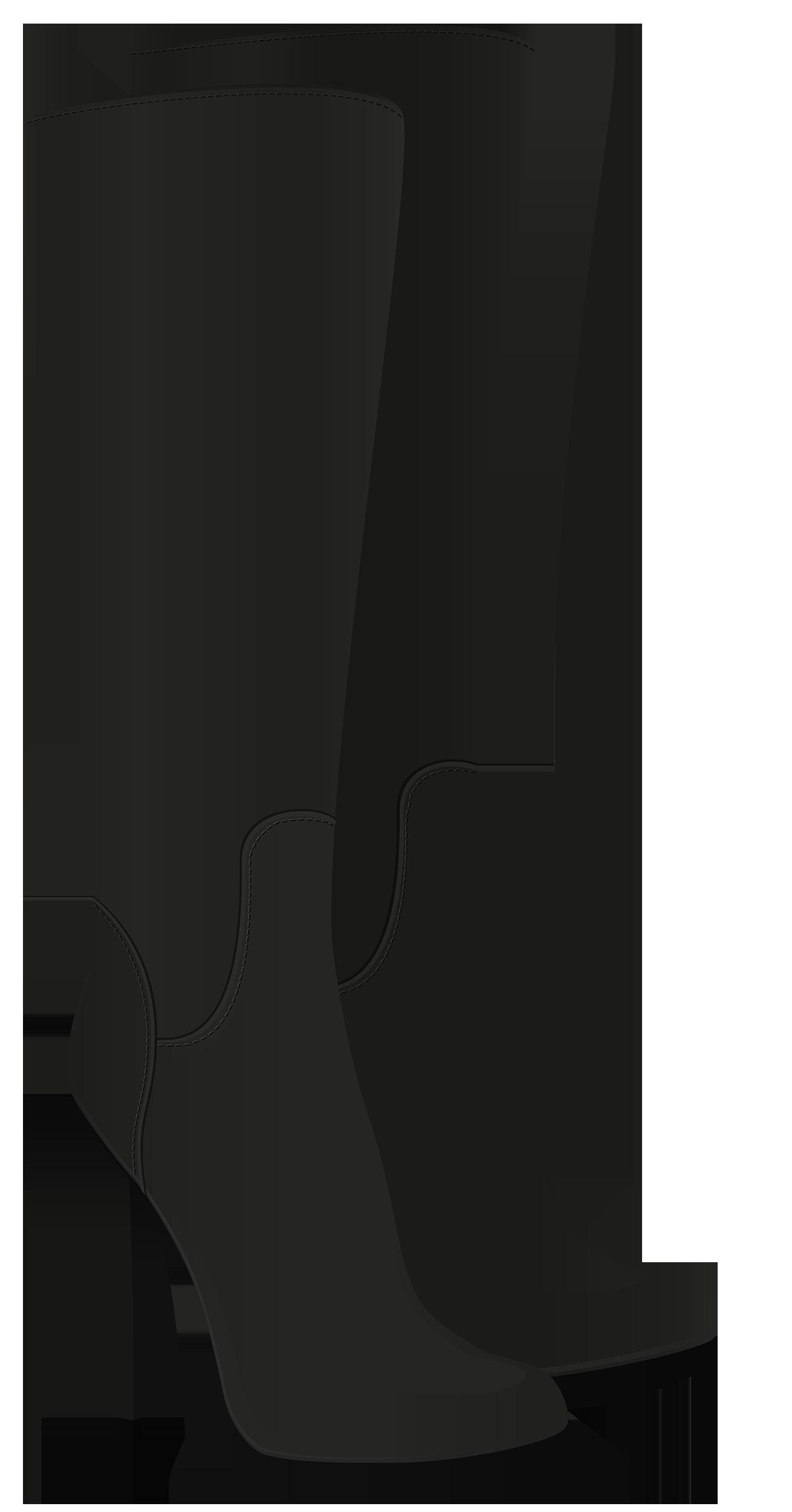 Black Boots Clipart.