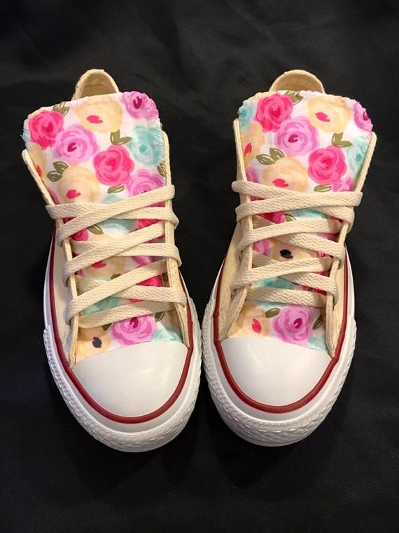 Floral Converse Shoes in 2019.