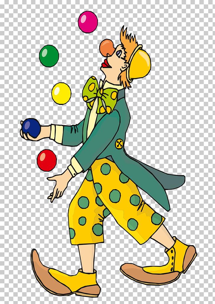 Clown , Juggling PNG clipart.