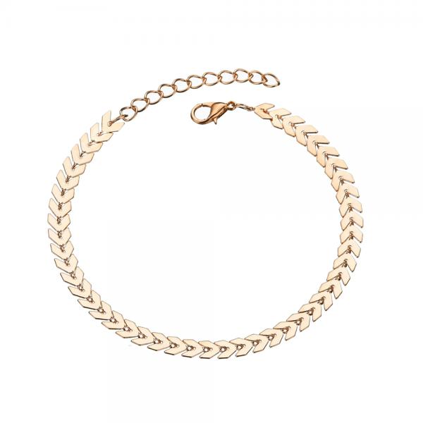 Gold Adjustable Chain Anklet Footwear.
