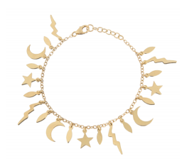 All Gold 20 Piece Element Bracelet/Anklet — Jaimie Geller Jewelry.