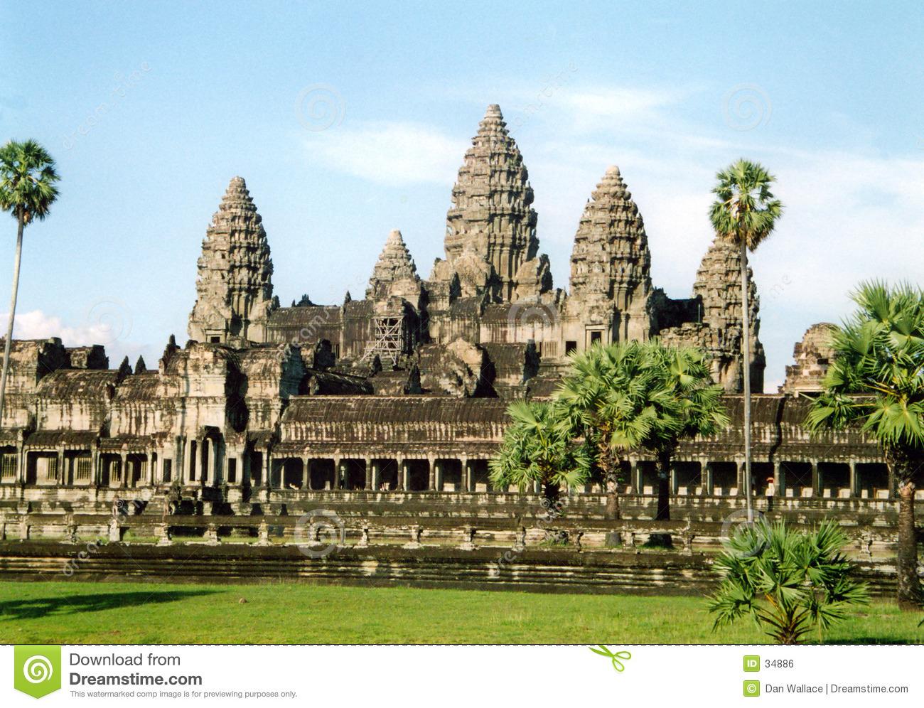 Angkor Wat Royalty Free Stock Image.