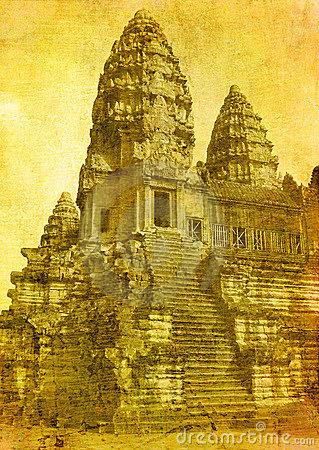 Angkor Wat Cambodia Stock Illustrations.
