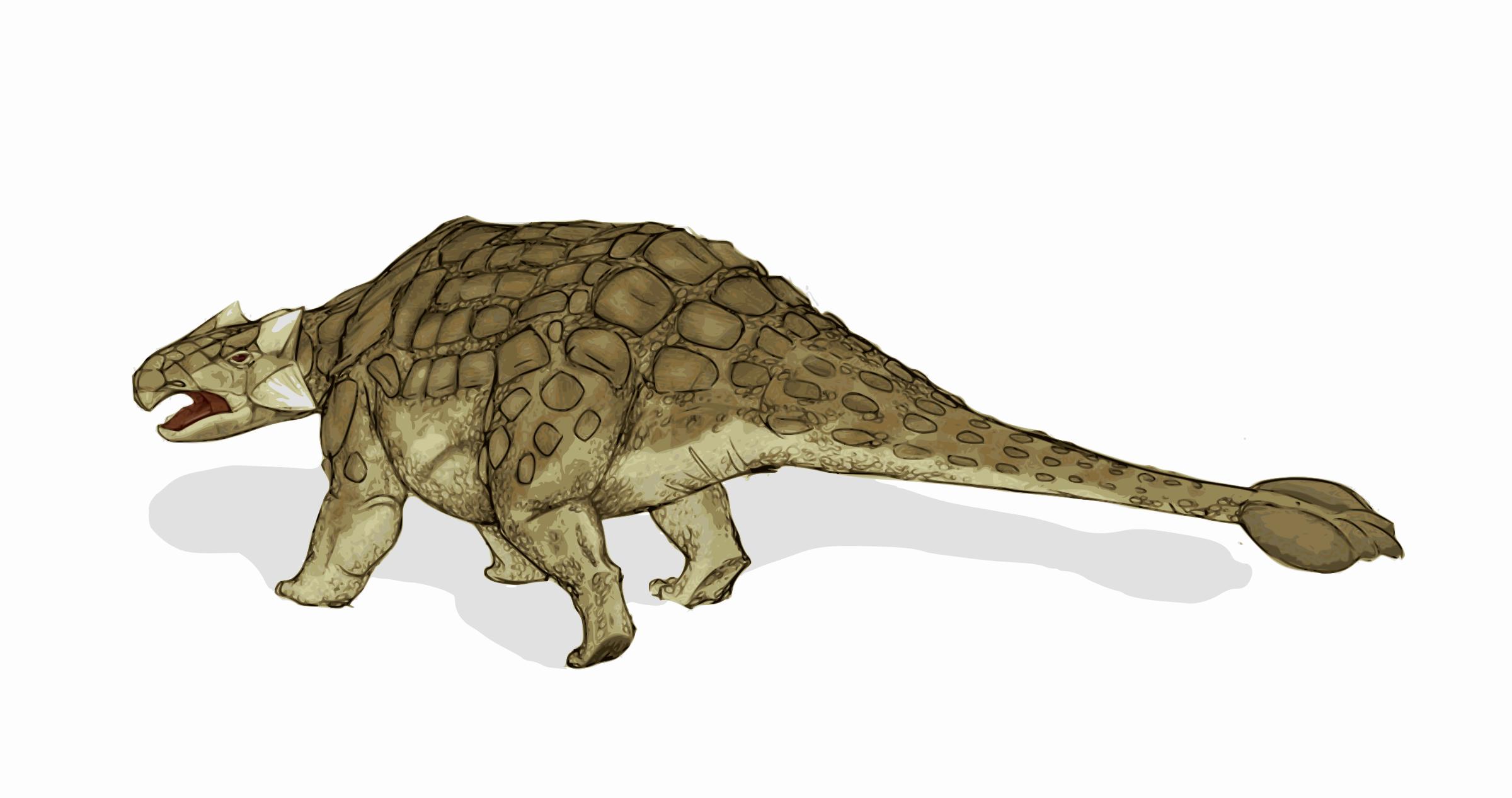 Ankylosaurus Free Vector Clipart image.