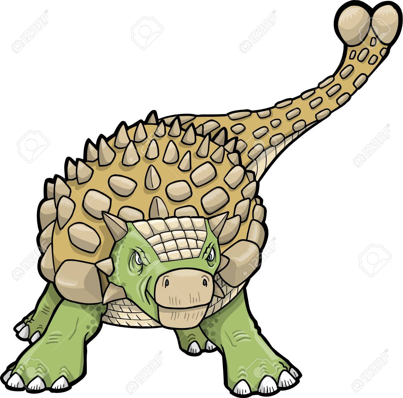 Ankylosaurus Dinosaur.