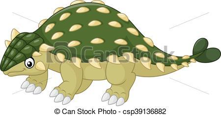 Ankylosaurus Dinosaur cartoon.