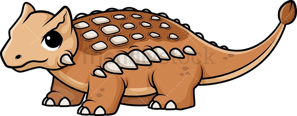 Cute Ankylosaurus Dinosaur.