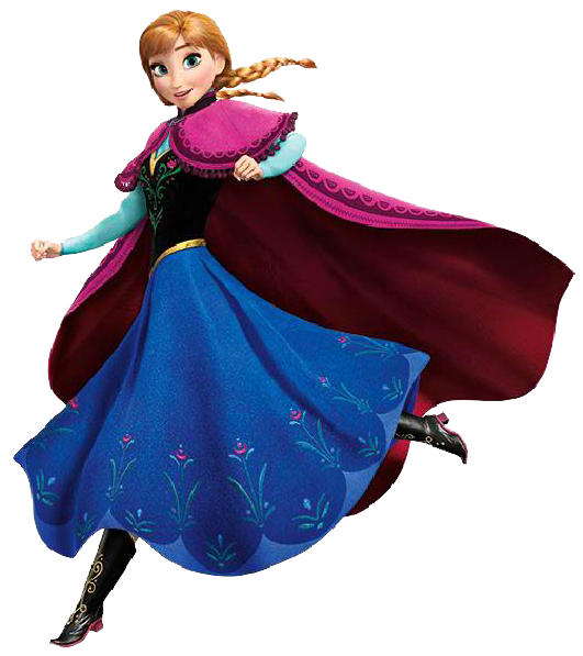 Anna Frozen Characters Clipart.