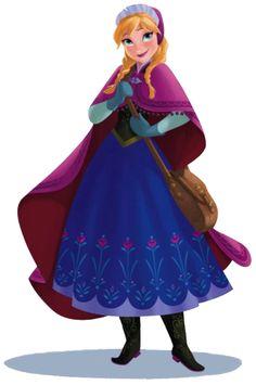 Princess anna clipart.