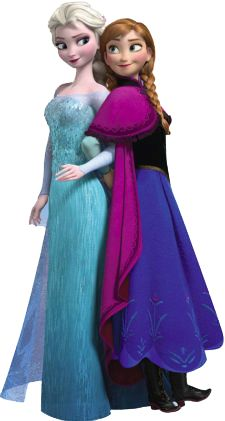 Frozen: Ana and Elsa Clip Art..