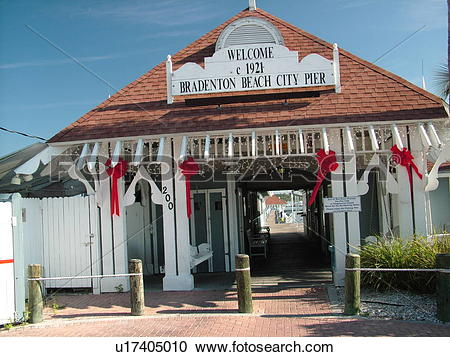 Stock Photography of Bradenton Beach, FL, Florida, Longboat Key.