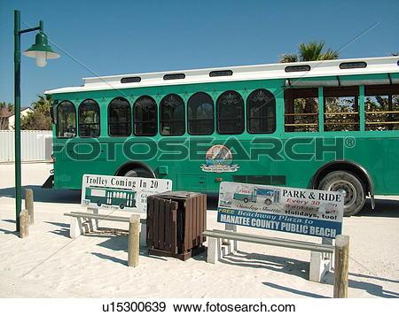 Stock Photograph of Holmes Beach, FL, Florida, Anna Maria Key.