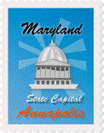 Fifty US States: Maryland Clipart.