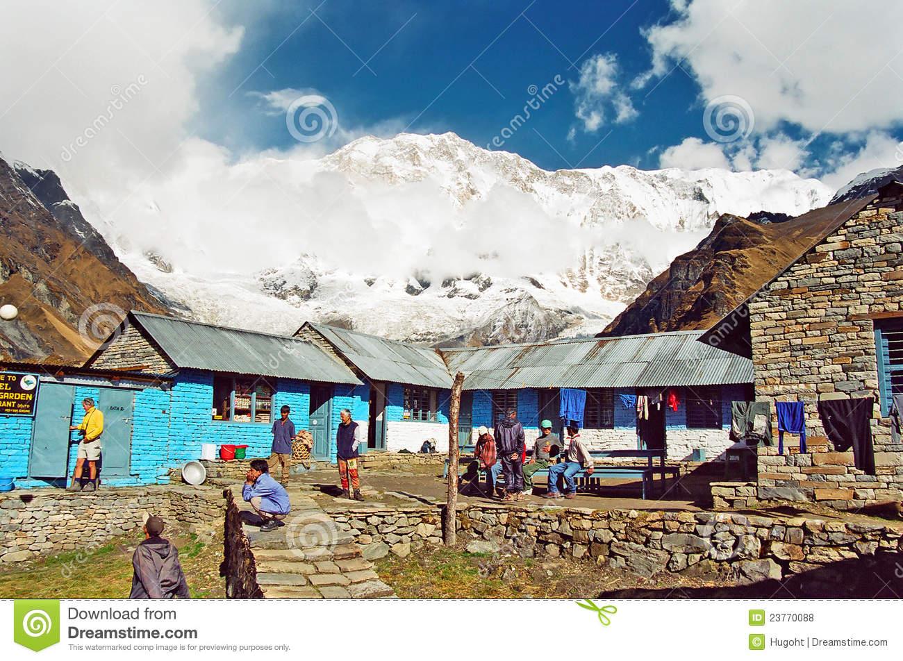 Annapurna Base Camp, Nepal Editorial Stock Image.