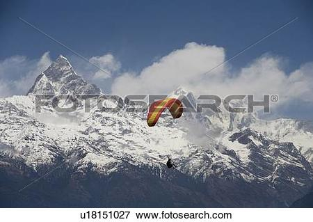 Picture of Paragliding, Annapurna region, Himalayas, Pokhara.