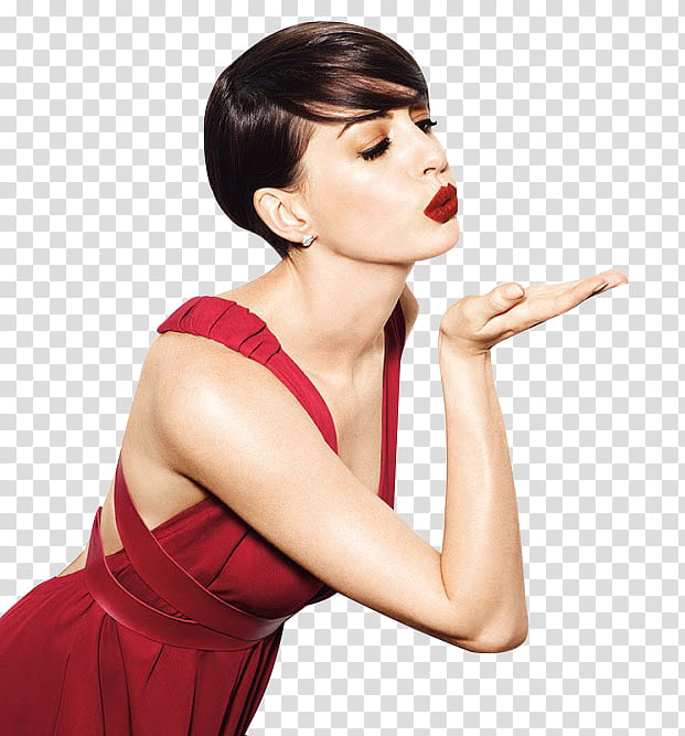 Anne Hathaway Scream transparent background PNG clipart.