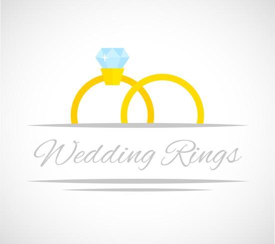 Carte anneaux de mariage.