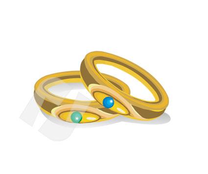 Clipart de anneaux de mariage.