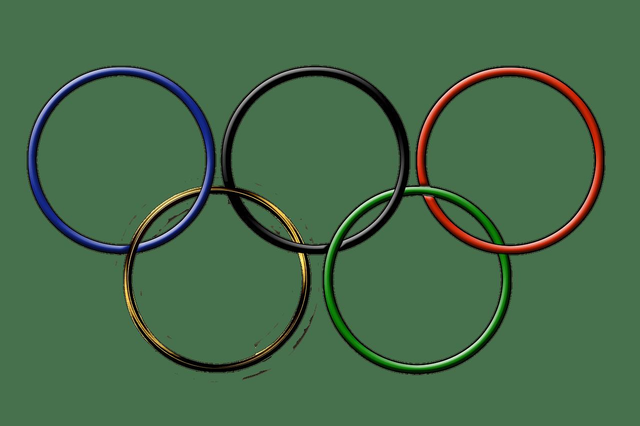 Anneaux olympiques PNG transparents.