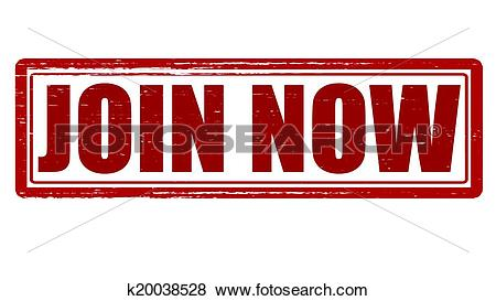Clip Art of Join now k20038528.