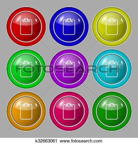 Clipart of File annex icon. Paper clip symbol. Attach sign. Symbol.