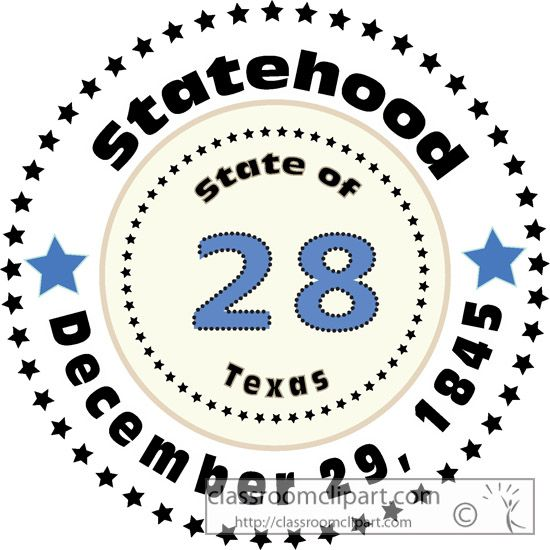 1845 Texas Territory annexed and Texas became the 28th state.