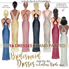 7 Best bridesmaid clipart images in 2019.