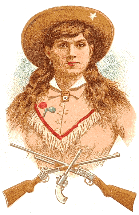 Annie Oakley clip art.