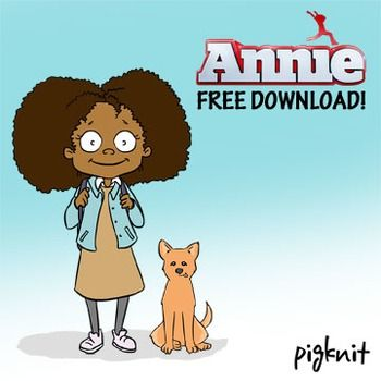 Annie and Sandy Movie Clip Art.