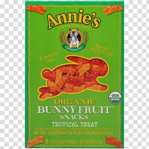 Organic food Annie\'s Homegrown Fruit Snacks Citrus, tropical.