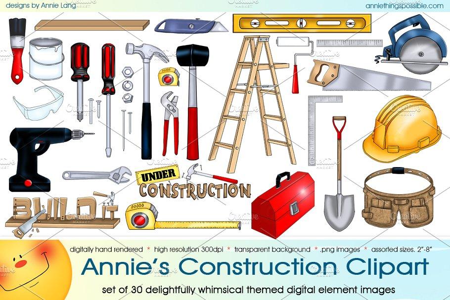 Annie\'s Construction Clipart.