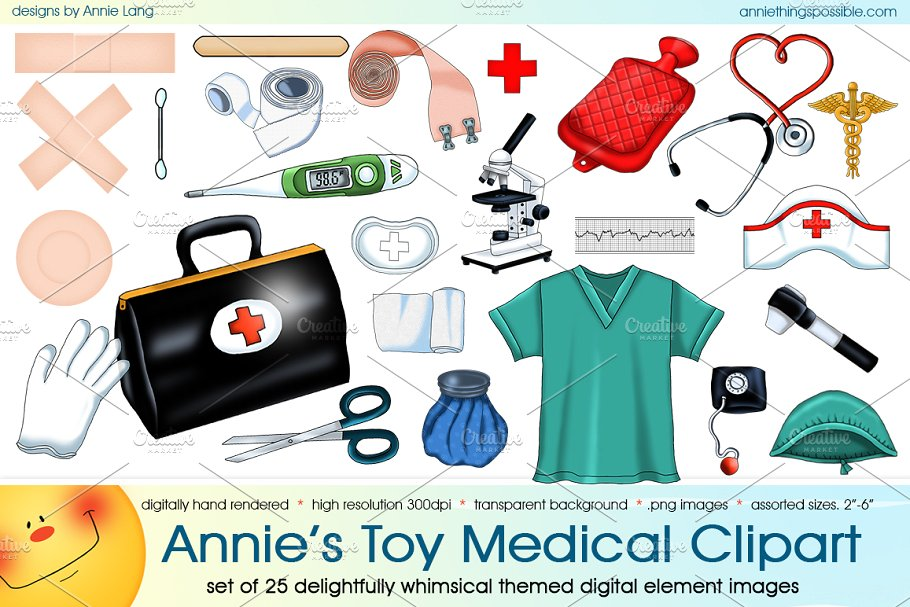 Annie\'s Toy Medical Clipart.