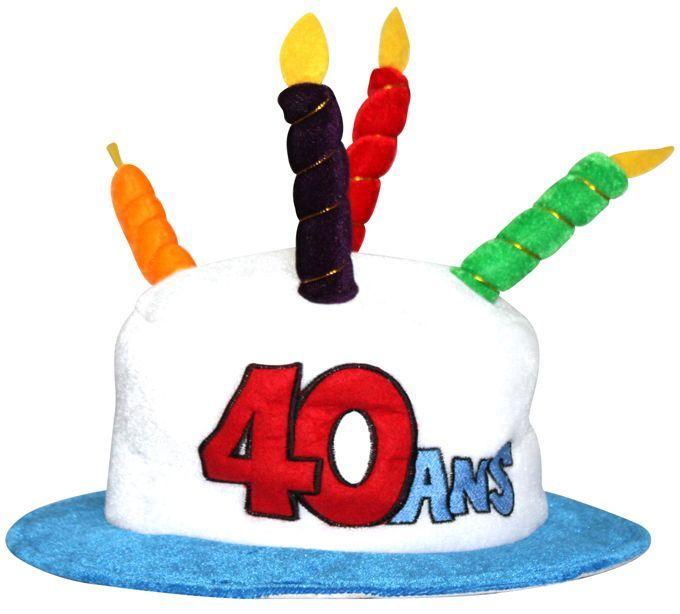 Chapeau Anniversaire 40 ans.