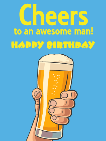 Beer Happy Birthday Cards.