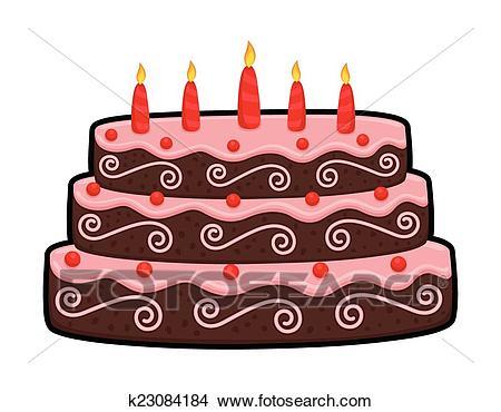 Three Layer Anniversary Cake Clipart.